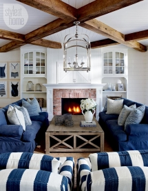 Coastal-style livingroom - Beach House Decor Ideas