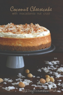 Coconut Cheesecake with Macadamia Nut Crust - Desserts
