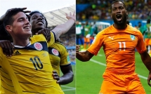 Colombia vs Ivory Coast today at noon - 2014 FIFA World Cup