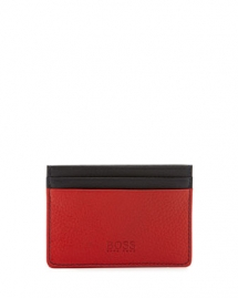 Colorblock Leather Card Case - Wallets