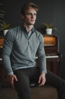 Commuter 1/4 Zip Sweater - Men's Style