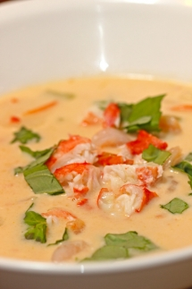 Crab Coconut Thai Soup - Cooking