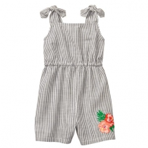 Crazy 8 Girl's Embroidered Stripe Romper - For the kids