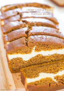 Cream Cheese-Filled Pumpkin Bread - Crazy for Pumpkin