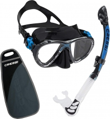 Cressi Big Eyes Evolution & Alpha Ultra Dry snorkelling set - Snorkeling & Scuba Diving Gear