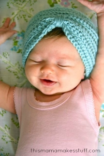 Crochet Baby Turban & Pattern - For the new arrival