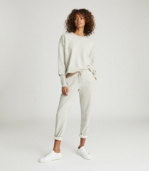Cropped Loungewear Sweatshirt - Comfy Clothes
