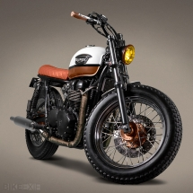 Customized Triumph Bonneville T100 from Ton-Up Garage - Vintage Inspired Motorcycles