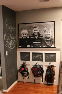 Cute backpack wall organization - For the home