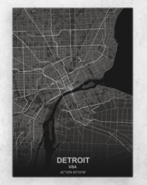 Detroit Metal Print - Travel Art