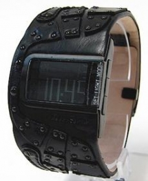 Diesel Men's DZ7066 Black Leather Watch - Cool Products