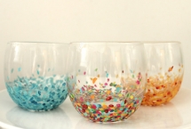 DIY Anthropologie Confetti Tumblers - DIY Projects