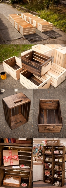 DIY crate shelves - DIY Projects