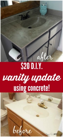 DIY Vanity Makeover : Concrete Overlay - DIY Projects
