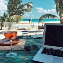 Dream office - take it to the beach - Work to Dream. Dream to Work