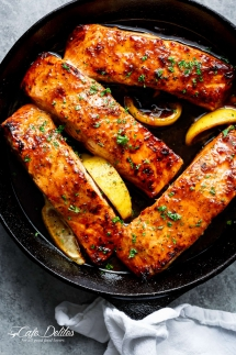 Easy Honey Garlic Salmon - Salmon Recipes