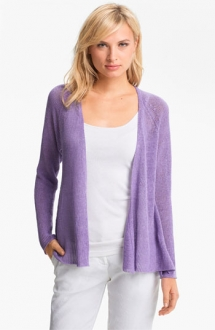 Eileen Fisher - Fine Gauge Linen Mesh Cardigan - Fave Clothing