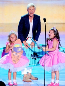Ellen with Rosie and Sophia Grace - Fave celebs