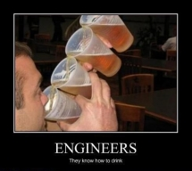 Engineers do drink the most!  - I busted my gut laughing