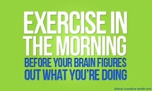 Exercise in the morning - Weight loss plans