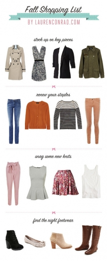 Fall Shopping List - Clothing