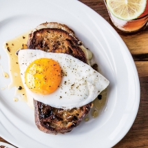 Fancy Grilled Cheese with a Fried Egg - I love to cook