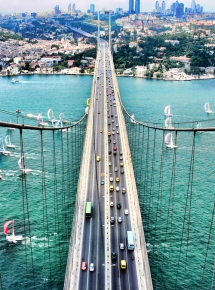 Fatih Sultan Mehmet Bridge in Istanbul, Turkey - Get me across. Famous Bridges