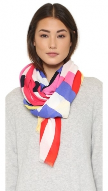 Flage Stripes Oblong Scarf by Kate Spade New York - Christmas Gift Ideas