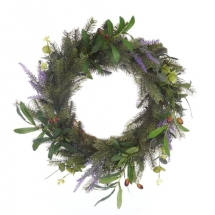Foliage Lit Wreath - Christmas Decoration
