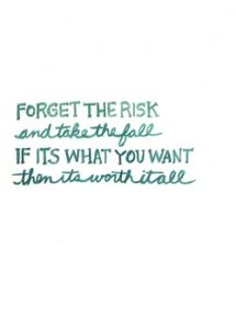 Forget the risk... - Party ideas