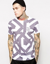 Friend Or Faux T-Shirt In Line Print - T-Shirts