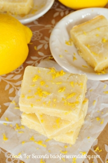 Fudgy Lemon Brownies - Dessert Recipes
