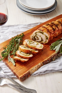 Garlic & Herb Turkey Roulade - Cooking