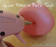Glue holes in bath toys - Household Tips