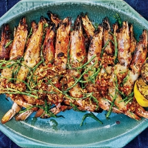 Grilled Shrimp with Palapa - Cooking