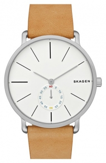 'Hagen' Leather Strap Watch by Skagen  - Watches