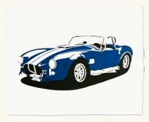 Handmade Print of Shelby Cobra by Manual Designs - Art for Guys