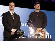 Harbaugh brothers share stage as Super Bowl coaches - Sports