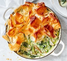 Herby Spring Chicken Pot Pie - Cooking