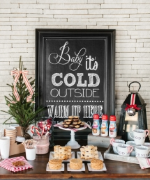 Holiday Hot Chocolate & Coffee Bar - Christmas Entertaining