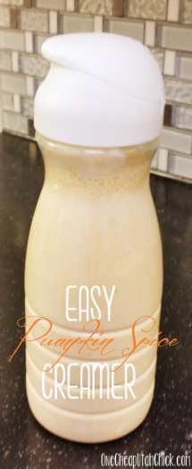 Homemade Pumpkin Spice Creamer - Crazy for Pumpkin