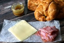 Hot Ham & Swiss Croissants - Sandwiches