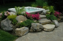Hot tub landscaping - Backyard ideas