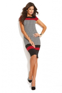 Houndstooth Dress - Fave Clothing