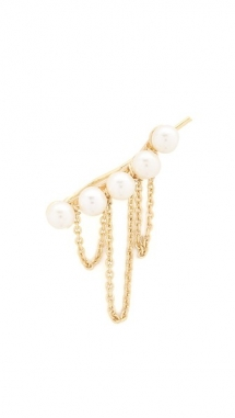 Imitation Pearl Chain Ear Crawler by Jules Smith - Fave Clothing, Shoes & Accessories