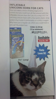 Inflatable Unicorn Horn for Cats - Laughter is the best medicine