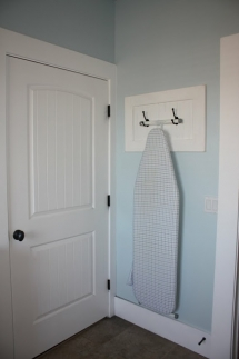 Ironing Board Storage Idea - Laundry Room Ideas