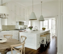 Ivory and White Kitchen - Kitchen ideas