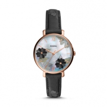 Jacqueline Three-Hand Black Leather Watch - Fave Clothing, Shoes & Accessories