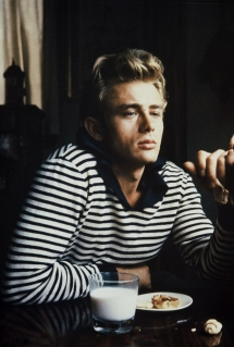 James dean taking a break for some milk and cookies - Fave celebs